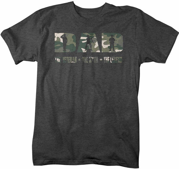 Men's Veteran Dad T Shirt Father's Day Gift Veteran Myth Legend Dad Gift Soldier Gift Military Gift Veteran Shirt-Shirts By Sarah