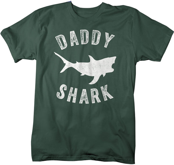 Men's Daddy Shark T Shirt Shark Shirts Matching Daddy TShirt Father's Day Gift Idea Tee Family Shirts-Shirts By Sarah