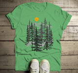 Men's Forest T Shirt Hand Drawn Shirts Deer Woods Hipster Camping Explore Graphic Tee-Shirts By Sarah