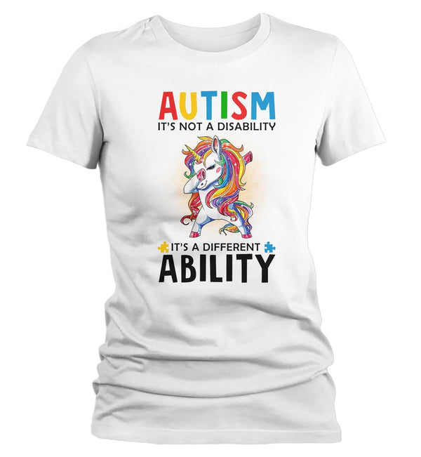 Women's Autism Unicorn T Shirt Love Different Ability Autism Shirt Cute Autism T Shirt Autism Awareness Shirt-Shirts By Sarah