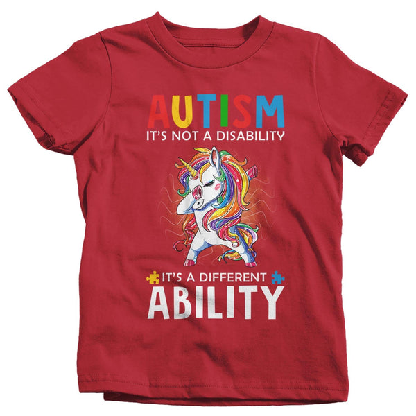 Kids Autism Unicorn T Shirt Love Different Ability Autism Shirt Cute Autism T Shirt Autism Awareness Shirt-Shirts By Sarah