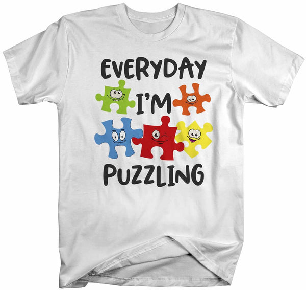 Men's Funny Autism Shirt Everyday I'm Puzzling Shirt Autism Shirt Puzzle Shirt Funny Autism T Shirt-Shirts By Sarah