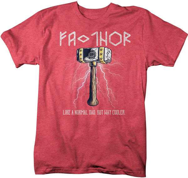 Men's Funny Dad T Shirt Father's Day Gift Fa-Thor Shirt Hero Shirt Gift For Dad Super Hero Dad Tshirt Fathor Shirt Dad Gift Tshirt-Shirts By Sarah