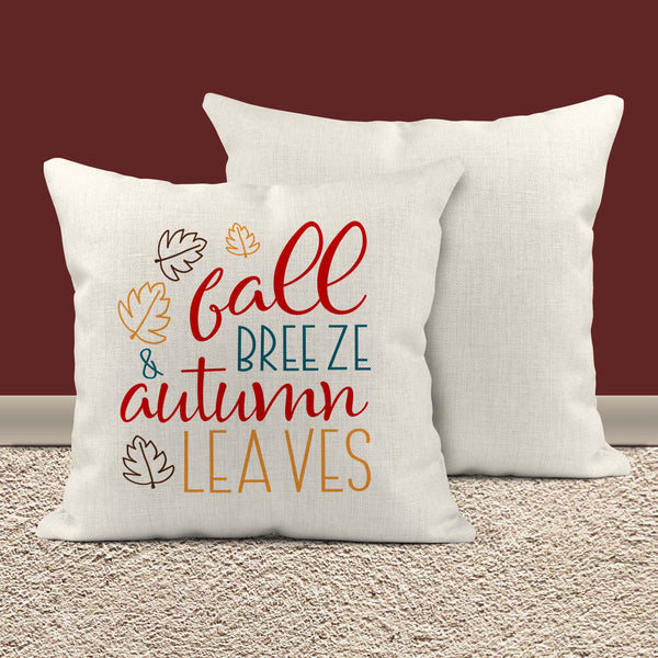 "Fall Breeze Pillow Cover Autumn Leaves Throw Pillow Case Home Decor Seasonal Fall Pillow 15.75""-Shirts By Sarah"