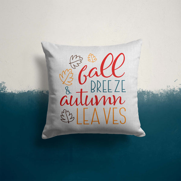 Fall Breeze Pillow Cover Autumn Leaves Throw Pillow Case Home Decor Seasonal Fall Pillow 15.75