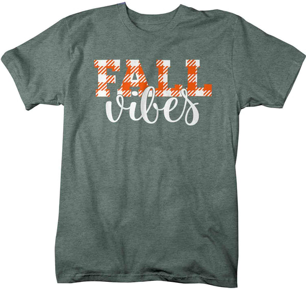 Men's Fall Vibes T Shirt Fall Shirts Fall Vibes Shirt Plaid Festive Fall Shirt Cute Shirt For Fall Fall Shirt Man-Shirts By Sarah