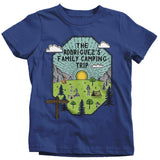 Kids Personalized Camping T Shirt Family Shirt Custom Graphic Tee Adventure Line Art Illustrated Shirts-Shirts By Sarah