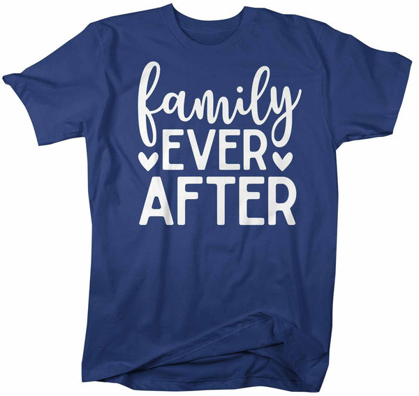 Men's Family T Shirt Family Ever After Adoption Tee Dad Shirts Parents Matching Shirts-Shirts By Sarah