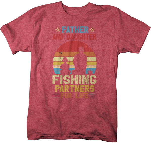 Men's Fishing T Shirts Matching Father Daughter Fishing Partners For Life Shirts Father's Day Gift Idea Vintage Best Friends Shirt-Shirts By Sarah