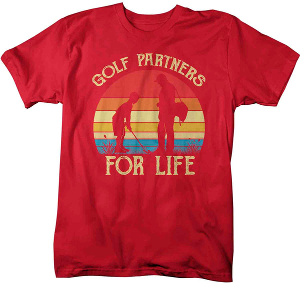 Men's Golfing T Shirts Matching Father Son Golf Partners For Life Shirts Father's Day Gift Idea Vintage Best Friends Shirt Man Unisex-Shirts By Sarah