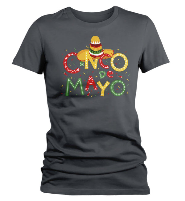 Women's Cinco De Mayo T Shirt Cinco De Mayo Shirt Cute Cinco De Mayo Tee-Shirts By Sarah