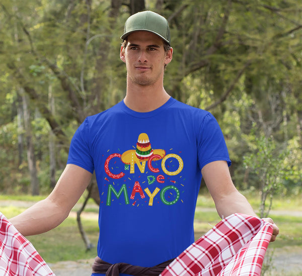 Men's Cinco De Mayo T Shirt Cinco De Mayo Shirt Cute Cinco De Mayo Tee-Shirts By Sarah