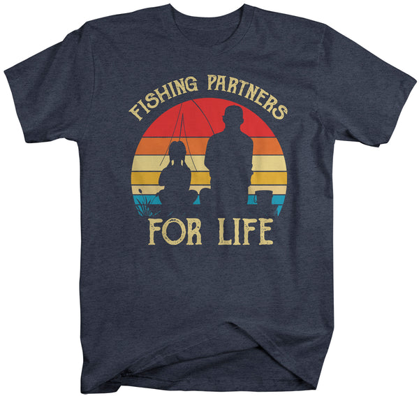 Men's Fishing T Shirts Matching Father Daughter Fishing Partners For Life Shirts Father's Day Gift Idea Vintage Best Friends Shirt Man-Shirts By Sarah