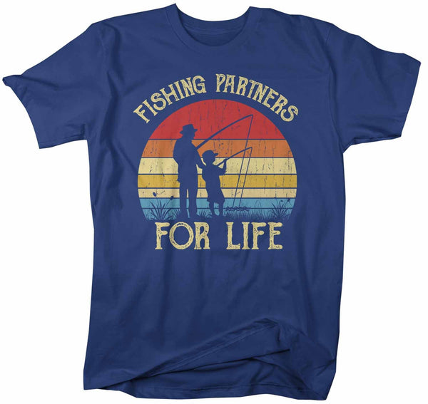 Men's Fishing T Shirts Matching Father Son Fishing Partners For Life Shirts Father's Day Gift Idea Vintage Best Friends Shirt-Shirts By Sarah