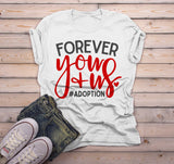 Men's Family T Shirt Adoption Shirts Forever You Plus Us Cute Adoptive Dad Tshirt-Shirts By Sarah