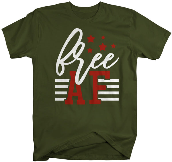 Men's Free AF T-Shirt 4th July Shirt Patriotic America Shirts Memorial Day Shirt Hipster Freedom T Shirt-Shirts By Sarah