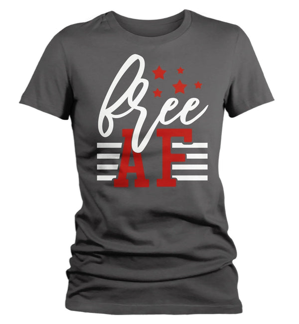 Women's Free AF T-Shirt 4th July Shirt Patriotic America Shirts Memorial Day Shirt Hipster Freedom T Shirt-Shirts By Sarah
