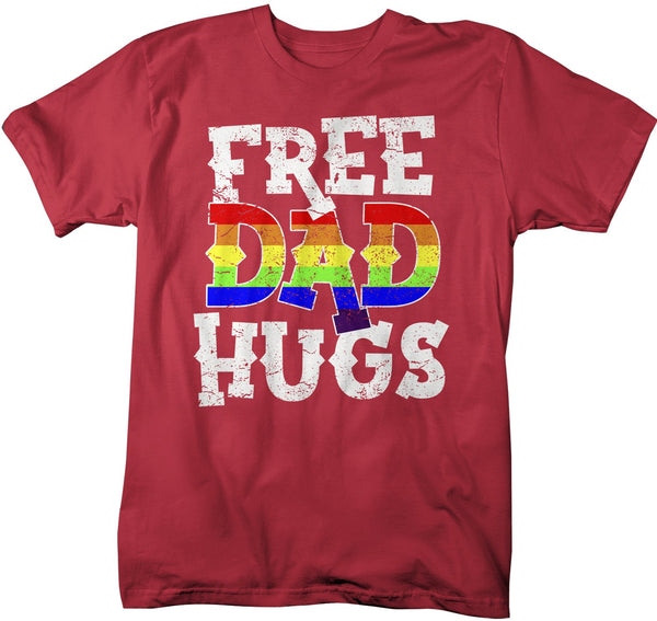 Men's LGBT T Shirt Free Dad Hugs Shirt Gay Pride Shirts Mom Hugs T Shirt Gay Support Shirts Proud Dad T Shirt-Shirts By Sarah