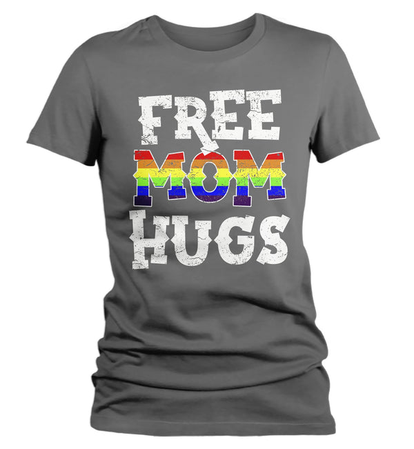 Women's LGBT T Shirt Free Mom Hugs Shirt Gay Pride Shirts Mom Hugs T Shirt Gay Support Shirts Proud Mom T Shirt-Shirts By Sarah