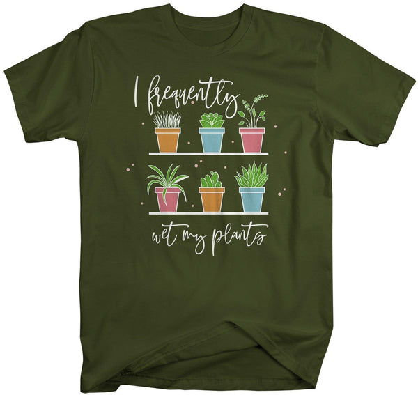 Men's Funny Gardening T-Shirt Gardener Shirt Frequently Wet My Plants Shirts Garden Gift Idea-Shirts By Sarah