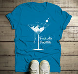 Men's Hipster T Shirt Fresh Air Cocktails Nature Graphic Tee Martini Glass Mountains-Shirts By Sarah