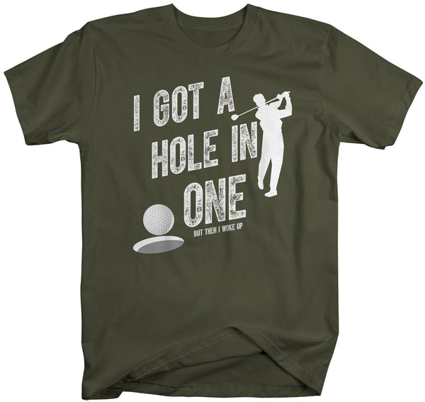 Men's Funny Golf T Shirt Hole In One Golfer Shirt Golf Shirts Hilarious Gift Idea Graphic Tee Father's Day Gift-Shirts By Sarah