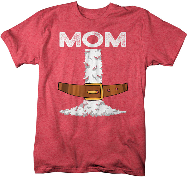 Men's Mom Santa T Shirt Holiday Pajama Shirt Matching Christmas Pajamas Santa Costume Tee Fun Kris Kringle Christmas Eve Shirt-Shirts By Sarah