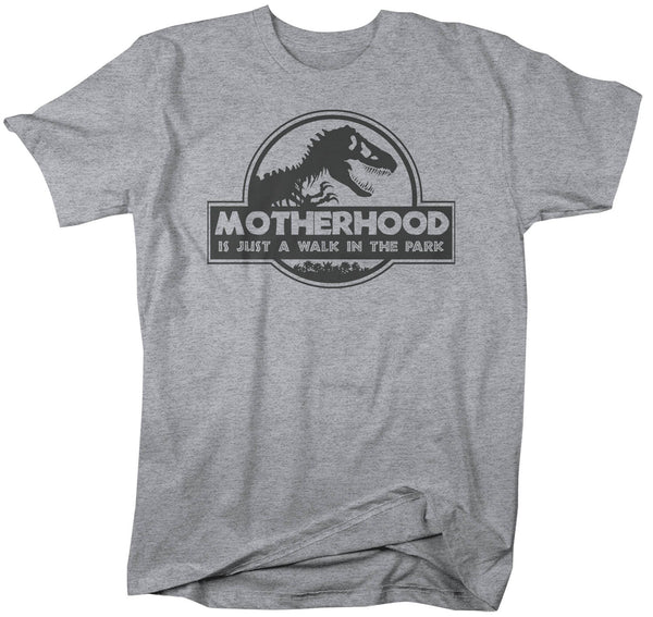 Men's Funny Mom T Shirt Mother's Day Gift Motherhood Walk In The Park Shirt Dinosaur Shirt T Rex Shirt Unisex Man's-Shirts By Sarah