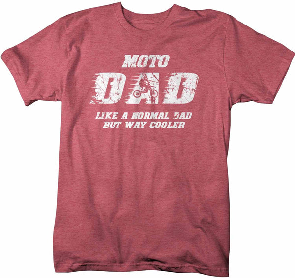 Men's Funny Motocross T Shirt Motocross Dad Shirt Moto Dad Shirt Funny Dad Shirt Normal Dad Only Cooler-Shirts By Sarah