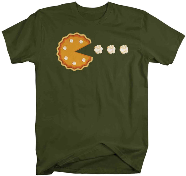 Men's Funny Thanksgiving T Shirt Funny Pumpkin Pie Shirt Whipped Cream Pie Eater Eat Pie Shirt Pumpkin Tee-Shirts By Sarah