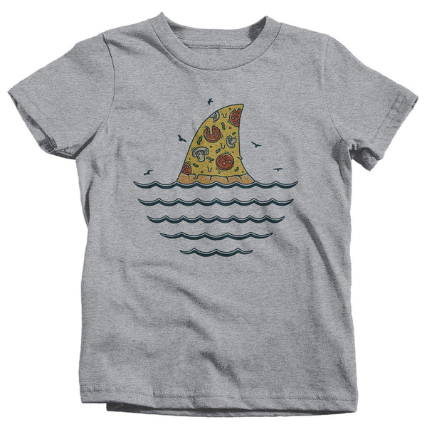 Kids Funny Shark T Shirt Pizza Shirts Funny Shark Shirt Shark Fin Pizza T Shirt Killer Pizza Shirts-Shirts By Sarah