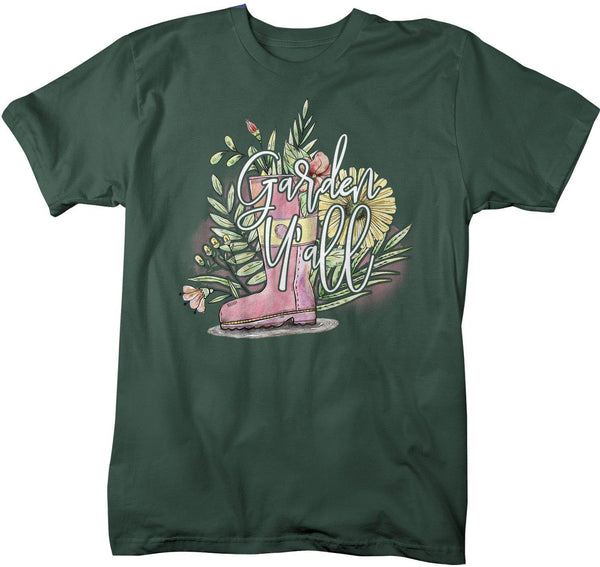 Men's Cute Gardening T-Shirt Garden Y'all Shirt From Flowers Shirts Garden Gift Idea Watercolor-Shirts By Sarah