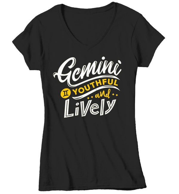 Women's Gemini T-Shirt Young & Lively Shirt Horoscope Shirt Astrology Shirts Gemini TShirt Astrological-Shirts By Sarah