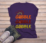 Men's Funny Thanksgiving T Shirt Gobble Gobble Turkey Shirts Hipster Tee Turkeys-Shirts By Sarah