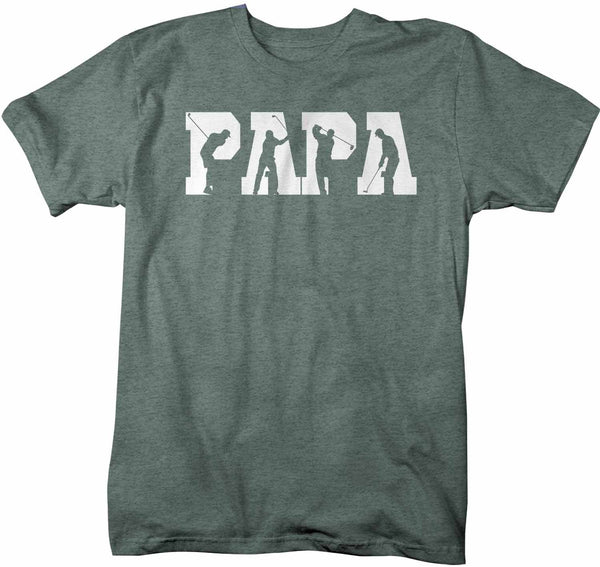 Men's Golf Papa T Shirt Father's Day Gift Golf Shirt Golf Gift Grandpa Golf Shirt Papa Golfer Shirt-Shirts By Sarah
