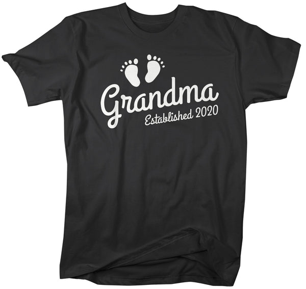 Men's Grandma Established 2020 Baby Feet Shirt Promotion New Baby Reveal Cute Shirts-Shirts By Sarah