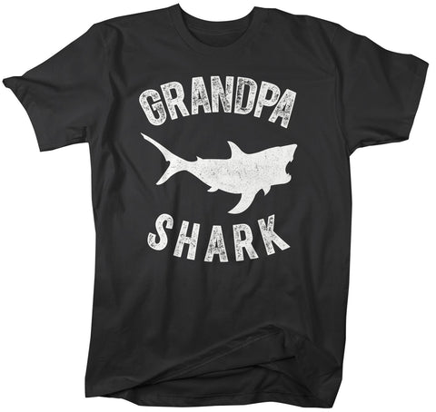 Men's Grandpa Shark T Shirt Shark Shirts Matching Grandpa TShirt Father's Day Gift Idea Tee Family Shirts-Shirts By Sarah