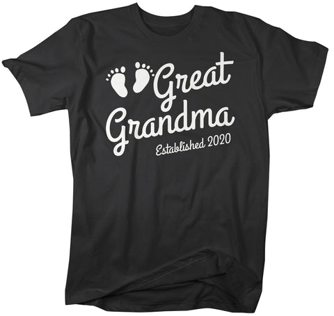 Men's Great Grandma Established 2020 Baby Feet Shirt Promotion New Baby Reveal Cute Nana Shirts-Shirts By Sarah