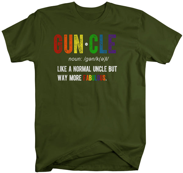 Men's Funny Uncle T-Shirt Guncle Shirt Gift Ideas Uncles Fun Saying Tee Father's Day Birthday Uncle Gay LGBT Shirts-Shirts By Sarah