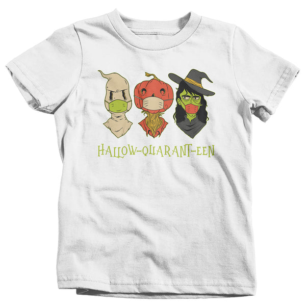 Kids Cute Halloween T Shirt Halloquaranteen Shirt Witch Shirt Mask Monsters Shirt Halloween Tshirt Quarantine Halloween Tee-Shirts By Sarah