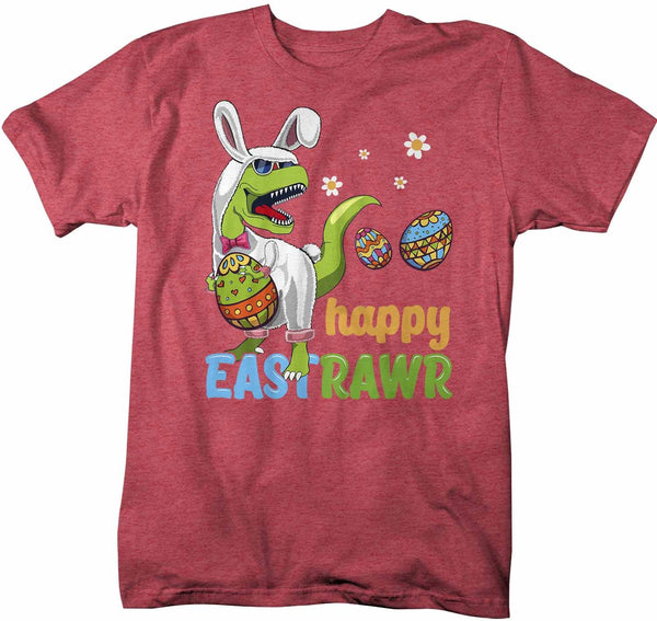 Men's Funny Easter T Shirt T Rex Easter Bunny Shirt Happy Eastrawr Shirt Funny Dinosaur Easter Shirt Rawr Shirt-Shirts By Sarah