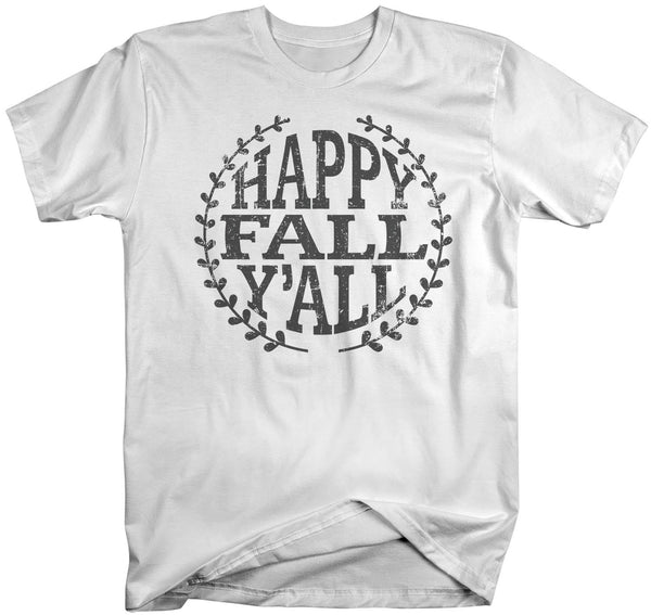 Men's Happy Fall Y'all T Shirt Happy Fall Shirts Vintage Shirt Season Shirt Fall Shirts-Shirts By Sarah