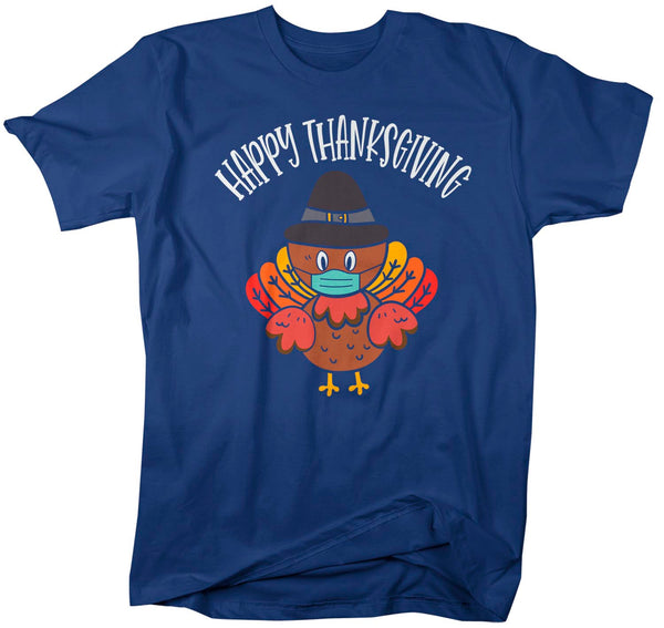 Men's Cute Thanksgiving T Shirt Cute Turkey Shirt Masked Turkey With Mask Boho Cute Turkey Tee Tshirt Man Unisex-Shirts By Sarah