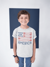 Kid's American Flag Arrow T-Shirt Freedom Patriotic 4th July Shirt America Shirts Memorial Day Shirt Hipster