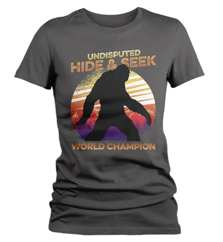814880d3d Women's Funny Bigfoot T-Shirt Hide And Seek World Champion Sasquatch Tee  Grunge Hipster Shirt