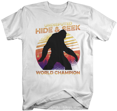 0bbeabc8b Men's Funny Bigfoot T-Shirt Hide And Seek World Champion Sasquatch Tee  Grunge Hipster Shirt