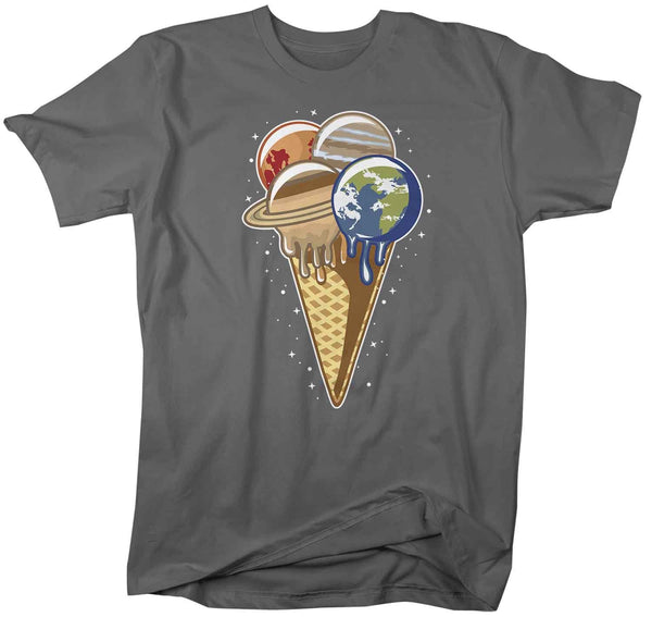 Men's Space T Shirt Ice Cream Shirts Planets Shirt Celestial T Shirt Hipster Shirts Hipster Space Shirt Saturn T Shirt-Shirts By Sarah