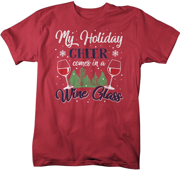 Men's Funny Christmas T Shirt Wine Shirt Holiday Cheer Shirt Red Wine Shirts Wine Shirt For Christmas-Shirts By Sarah