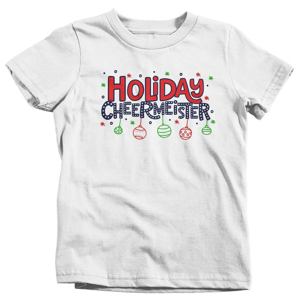 Kids Funny Christmas T Shirt Holiday Cheermeister Shirt Christmas Shirts Xmas Shirt Cheer Meister Shirts-Shirts By Sarah