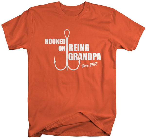 Shirts By Sarah Men's Hooked On Being Grandpa Since 2016 T-Shirt-Shirts By Sarah